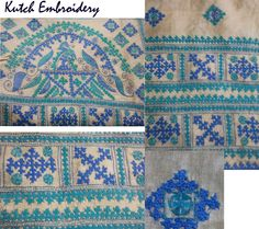 "traditional ""Kutch embroidery"" that originates form the region of ""Kutch"" in India West. First started in the 19th & 20th centuries, this embroidery is characterised by buttonhole, herringbone & chain stitches & always bears the ""Maltese"" cross.......The ""Maltese"" cross is used in Armenian embroidery...some researchers state that this embroidery was brought to India (the region of Kutch) by Arab traders that also visited Armenia"