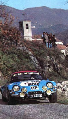 frenchcurious:Francis Serpaggi (Alpine A 110) Critérium des Cévennes 1975 - L'Automobile janvier 1976.
