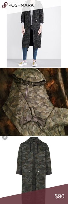 TopShop Camo Parka Jacket This jacket is perfect! It is well made with thick fabric, oversized pockets and an oh so convenient hood! This jacket is free of flaws and in excellent condition! ‼️ This jacket runs big which is perfect for weather in which you'd have to layer your clothing in an effort to stay warm! It's is tagged US 6 but could easily fit size 8. (Reasonable Offers Accepted ) Topshop Jackets & Coats