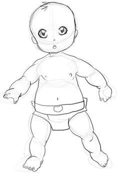 How to Draw Babies Step by Step Drawing Tutorial