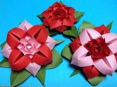 Origami Flower : : Flor de papel 4 Pétalos http://youtu.be/0ZZAmGSSIfI