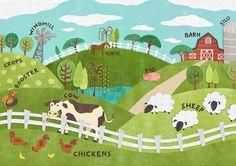 Farm Illustration Farm illustration farm