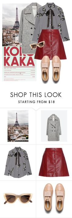 """""""Untitled #1979"""" by ivonce ❤ liked on Polyvore featuring WALL, Zara, Marc Jacobs, Étoile Isabel Marant, Quay and Acne Studios"""
