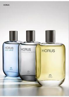 Colônia Horus, nas versões: tradicional, azul marine ou cinza concreto. Veja qual combina mais com seu estilo.
