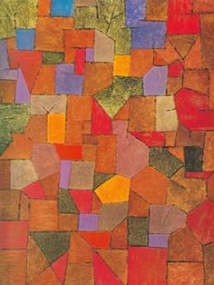 Paul Klee Paintings | Paul Klee, Mountain Village (Autumnal) Fine Art Reproduction Oil ...