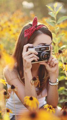 Girl & Vintage Camera