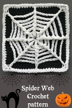 Video - how to crochet a spider web coaster.