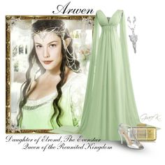 A fashion look from December 2014 featuring long chiffon dress, e live from the red carpet shoes and metallic clutches. Fandom Outfits, Arwen, Alternative Outfits, Lotr, Elegant Dresses, Sexy Outfits, Dream Wedding, Daughter, Gowns
