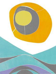 Sol Over Vidda av Ruth Roland Tech Logos, Ornament, Symbols, Fine Art, Painting, Corporate Design, Kunst, Decoration, Painting Art