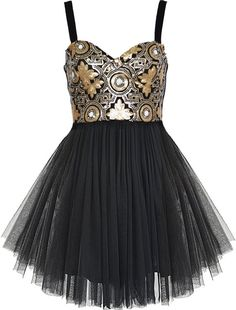 Gilded Ballerina Dress