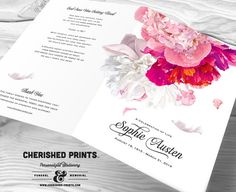 Cherished Prints offers fully personalized funeral and memorial stationery. Our celebration of life programs are created using with your words, poems, verses, eulogy, service details, and photos -- making it a lasting keepsake for those who receive it. ▬▬▬▬▬▬▬▬▬▬▬▬▬▬▬▬▬▬▬▬▬▬▬▬▬▬▬▬▬▬▬▬▬▬ PLANNING YOUR PROGRAM ▬▬▬▬▬▬▬▬▬▬▬▬▬▬▬▬▬▬▬▬▬▬▬▬▬▬▬▬▬▬▬▬▬▬ Cherished Prints will customize our designs to incorporate as much or as little content as you need. I created the fillable PDF form to make it easier…