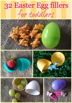I'm all for a low candy egg hunt, but stuffing eggs with sugar snap peas? Lame. (But lots of other cool ideas)