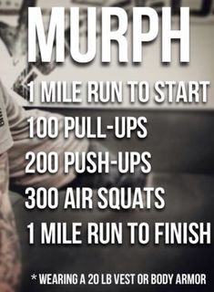 Season 2 episode 15 of the Run Lift Mom podcast ua bout why I did Murph every Monday for 24 weeks. You'll learn this history of this CrossFit hero WOD Crossfit Hero Workouts, Murph Workout, Wod Workout, Workout Challenge, At Home Workouts, Crossfit Lifts, Outdoor Workouts, Workout Plans, Workout Ideas
