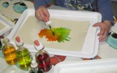 THE MAGIC OF CHILDREN'S PLAY!  SALT CRYSTAL PAINTING