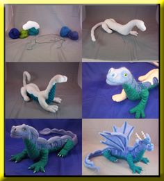 needle felted dragon needle I know a young man who would love one of these! Needle Felted Animals, Felt Animals, Felt Crafts, Fabric Crafts, Felt Dragon, 3d Figures, Needle Felting Tutorials, Felt Fairy, Felt Patterns