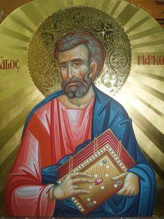 P1014721 copy St Mark The Evangelist, Church Interior, Byzantine Icons, Orthodox Icons, Oil Paintings, Saints, Ornaments, Children, Art