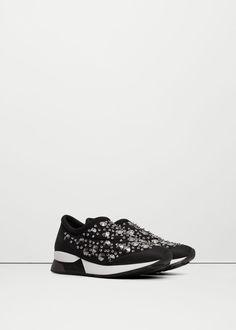 Buty sportowe z kryształkami   MANGO