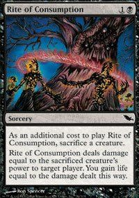 Magic: the Gathering - Rite of Consumption - Shadowmoor - Foil