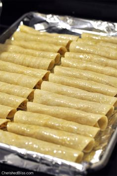 Oven baked taquitos
