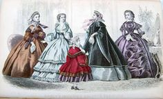 """Godey's November 1860 """"Godey's Improved Colored Fashions"""""""