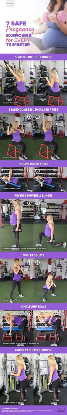 Good news: You can hit the weight room when you're pregnant! Just make sure you stick to these key moves. #PregnancyDiets #pregnancyadvice