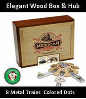 The Mexican Train Dominoes lets you enjoy the classic Mexican dominoes game packaged in a beautiful wooden box. It makes the perfect game for parties and family nights. Mexican Train Dominoes, Mexican Fiesta Party, Fun Board Games, Games Fo, Group Games, Family Games, Wooden Train, Family Game Night, Train