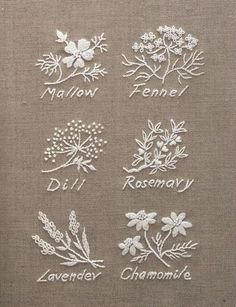 Wonderful Ribbon Embroidery Flowers by Hand Ideas. Enchanting Ribbon Embroidery Flowers by Hand Ideas. Herb Embroidery, Japanese Embroidery, Hand Embroidery Stitches, Ribbon Embroidery, Cross Stitch Embroidery, Embroidery Letters, Embroidery Sampler, White Embroidery, Embroidery Ideas