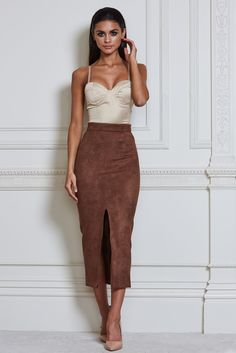 Leona Satin Bodysuit - Nude - Meshki Boutique
