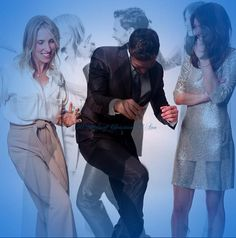 Jamie Dornan, Dakota Johnson, and Sam Taylor-Johnson being silly. We love to see them having fun. Jamie is breaking it down!  50 Shades of Christian and Ana