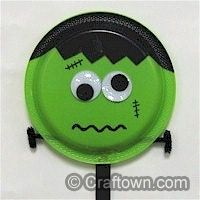 Paper Plate Frankenstein | Halloween Crafts for Kids