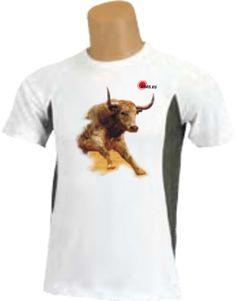 Camiseta - Toro corriendo en plaza