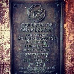 Ten reasons why we love College of Charleston  (with images, tweets) · CisternYard