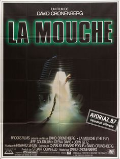 "Film: The Fly (1986) Year poster printed: 1987 (from first release in France) Country: France Exact Size: 47.25"" x 62.5"" Artist: Richard Mahon This is a vintage, French one-panel ""grande"" movie poster"