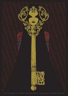 poster; silkscreen; Malleus Rock Art Lab - Black Keys Paris