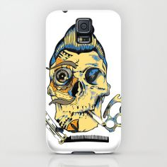 Just an Act iPhone & iPod Case by Nuam | Society6   #case #iPhone #PhoneCase #CasePrint #WhiteCase #Skull #SkullPrint  - Cool Skull Print Phone Case