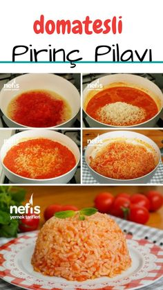 How to make rice with tomatoes? (with video) - Delicious recipe Wie man Reis mit Tomaten macht? (mit Video) – Leckere Rezepte How to make rice with tomatoes? (with video) – Delicious recipes, - Good Food, Yummy Food, Tasty, Delicious Recipes, Turkish Kitchen, Iftar, Turkish Recipes, Recipe For Mom, Mac And Cheese