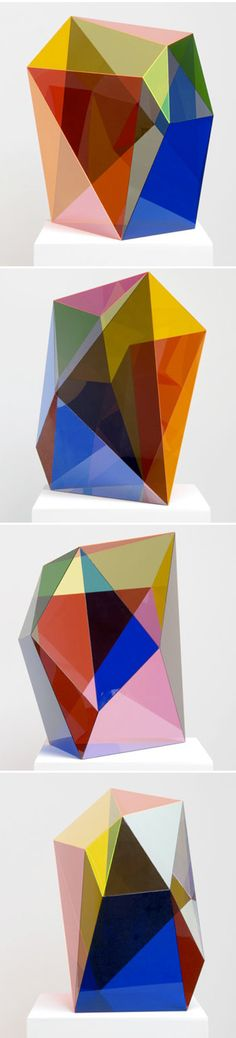 Giant Acrylic Gems by artist Gemma Smith #colorful