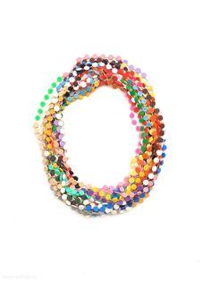 Karola Torkos - necklace, 2012, plastic, textile thread - L 10000 mm, €340