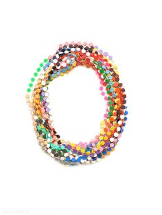 Karola Torkos - necklace, 2012, plastic, textile thread - L 10000 mm, €340