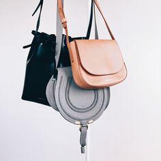 003b1c97ab Mansur Gavriel + Chloe - I love my maci grey saddle bag, goes with  everything.