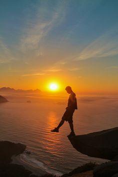Nascer do sol na Pedra do Telégrafo, Guaratiba - RJ