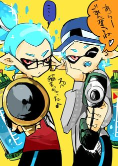 pixiv is an illustration community service where you can post and enjoy creative work. A large variety of work is uploaded, and user-organized contests are frequently held as well. Nintendo Splatoon, Splatoon Comics, Otaku Anime, Manga Anime, Comic Games, Manga Comics, Art Music, Pixar, Gamer Girls