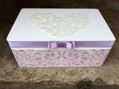 Wedding card box personalized decorated wood por DumontsHandicrafts