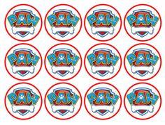 Free Printable Toppers of Paw Patrol. Paw Patrol Pinata, Paw Patrol Badge, Paw Patrol Party, Paw Patrol Birthday, Boy Birthday, Paw Patrol Cupcake Toppers, Paw Patrol Cupcakes, Escudo Paw Patrol, Imprimibles Paw Patrol