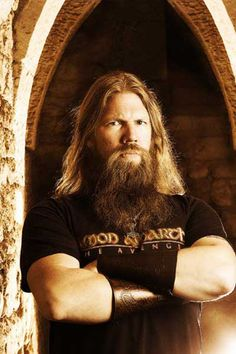 johan hegg, amon amarth. my fav metal beard. extra points for viking-ness and growly vocals.