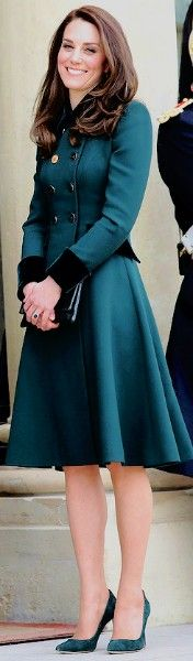 17 March 2017 Green Catherine Walker Coat