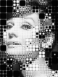 Art | Audrey by Village9991, via Flickr #grid #pattern