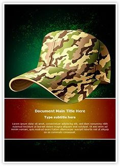 Army operation powerpoint template is one of the best powerpoint army cap word document template is one of the best word document templates by editabletemplates toneelgroepblik Image collections