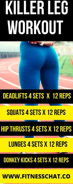 Killer legs, thighs and butt workout routine. Great home workout for women who want toned legs. Killer legs, thighs and butt workout routine. Great home workout for women who want toned legs. Leg Workout Plan, Gym Workout Plan For Women, Free Workout Plans, Best Leg Workout, Leg Workout At Home, Ultimate Workout, Week Workout, Workout Tips, Leg Workout Women