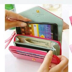 Women Wrist Wallet Case Pouch Purse Bag for Samsung Galaxy iPhone 4 5 Iphone Wallet Case, Iphone 4s, Purse Wallet, Coin Purse, Phone Cases, Apple Iphone, Clutch Bag, Red Clutch, Pink Iphone